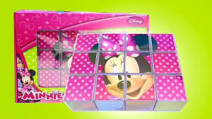 Minnie Mouse Toy Box Minnie Mouse Cubes Make Mickey Mouse Face Minnie Blocks Minnie
