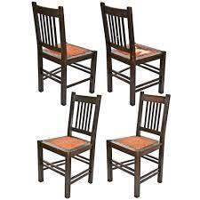 Stickley Floor Lamp Antique Stickley Quaint Furniture Wood Dining Chairs Set 4