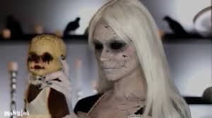 broken doll halloween costume cracked porcelain doll makeup tutorial youtube