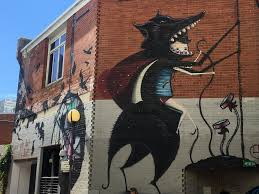 Wolf Mural by Painting A Different Picture Discovering Perth U0027s Street Art