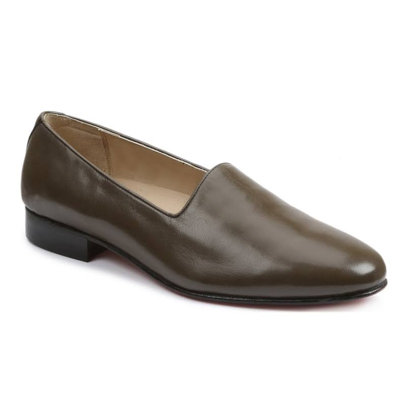 Giorgio Brutini Crawley 244378 Gray Leather Dress Slip On Loafers Shoes