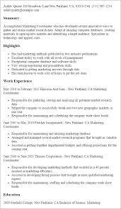 Resume Templates  Marketing Coordinator