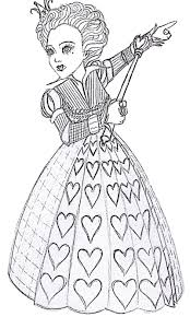 free printable alice in wonderland coloring pages http