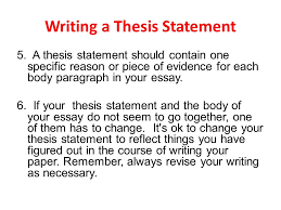 paragraph with good thesis statement FAMU Online Writing a Thesis Statement A thesis statement should contain one specific reason or piece