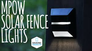 Solar Fence Lighting by Mpow Solar Fence Lights Review Solar Powered Waterproof Light