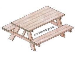 Free Wooden Picnic Table Plans by Free Picnic Table Plans