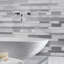 Smart Tiles Milano Carrera  In W X  In H Peel And Stick - Peel on backsplash