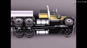 kenworth truck models kenworth w900 tanker truck 1974 3d model from creativecrash com