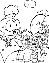 mario bros coloring pages cartoon coloring pages of