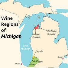 Detroit Michigan Map by Michigan Wineries Map Michigan Map