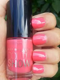 chassycali maybelline color show nail lacquer in coral crush