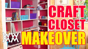 diy craft closet organizer and shelving system youtube