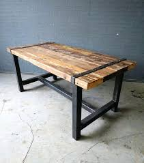 metal and reclaimed wood dining table reclaimed wood dining table