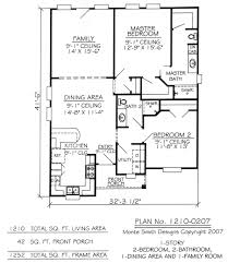 one story with loft house plans 9009