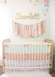 glam pink and gold nursery via peoniesandtwine pink and gold