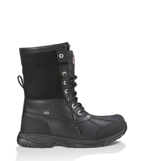 UGG Australia Butte Black Waterproof Leather Winter Boots 5521 -BLK
