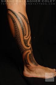 polynesian tattoos maori polynesian fusion calf tattoo tattoo