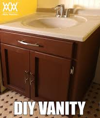 diy bathroom vanity save money by making your own cabinets