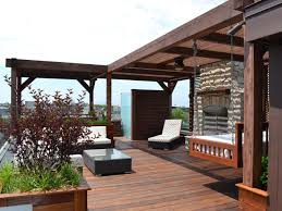 Outdoor Patio With Roof by Photos Chicago Roof Deck Garden Hgtv