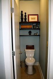 Decorating Half Bathroom Ideas Wood Shelves Above Toilet Shelves Above The Toilet In The Master