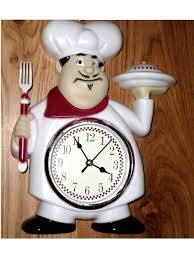 fat italian chef kitchen wall clock red white 21 95 fat chefs