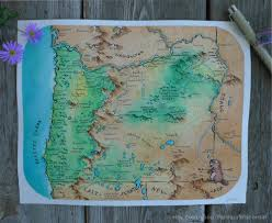 Bandon Oregon Map by I Painted A Fantasy Style Map Of Oregon Any Suggestions On Other
