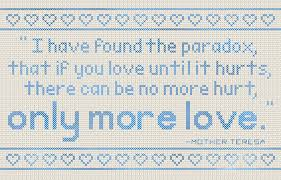Mother Teresa Quotes On Love by Don U0027t Eat The Paste Mother Teresa Quote Cross Stitch Pattern