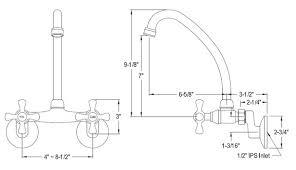 Wall Mount Kitchen Sink Faucet Wallmount Kitchen Faucets
