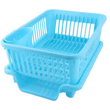 Plastic Dish Drying Rack Amazon Com Uxcell Plastic Kitchen Side Water Outlet Storage Dish