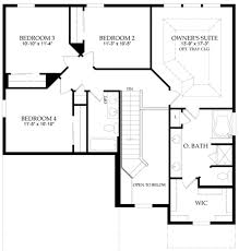 bedroom four bedroom house plans one story