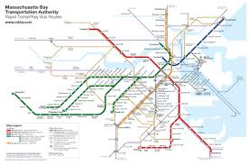 Greyhound Routes Map by Boston Rapid Transit Map With Buses U2013 Transit Maps Store