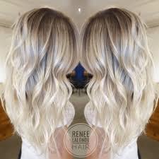 platinum blonde balayage long hair beach waves balayage ombre