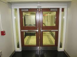 catflap in glass door wire glass door