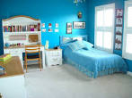 Decorating: Fantastic Interior Cleanly Blue Color Painting Design ...