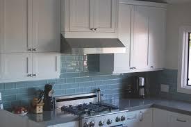 backsplashes pale blue glass tile backsplash farmhouse kitchen