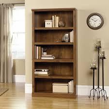 Sauder Black Bookcase by Amazon Com Sauder 5 Shelf Bookcase Oiled Oak Finish Kitchen
