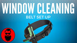 all pro window cleaning my window cleaning belt set up youtube
