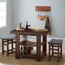 Kitchen Island Chair by Napa Valley Kitchen Island And Stool Set Caramel Finish Wine