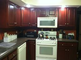 Painting Kitchen Cabinets Blue Kitchen Cabinet Paint Findley U0026 Myers Beacon Hill Red Oak
