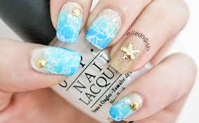 water spotted beach nails 2 ways youtube