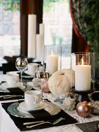Dining Table Centerpiece Glittering Fall Table Setting And Centerpiece Ideas Hgtv