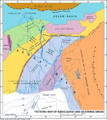 Tectonic Plate Map Map Of Tectonic Plates In And Around Bangladesh