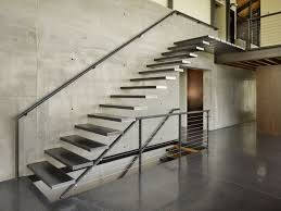 Loft Designs by Appealing Wall Mounted Chrome Metal Modern Stairs With Wall Handle