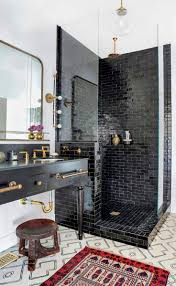 Mosaic Bathroom Tile by Best 25 Black Bathroom Floor Ideas On Pinterest Powder Room