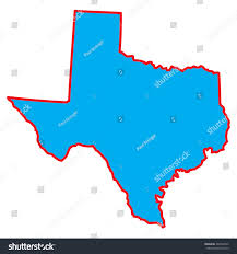 Texas Map Outline Map State Texas Stock Vector 482968792 Shutterstock