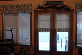 interior french door with brown wooden frame and half glass cover