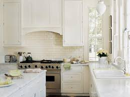Ceramic Kitchen Backsplash Kitchen Backsplash Subway Tile Classic White Kitchen Design Ideas