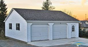 How Many Square Feet Is A 1 Car Garage 2 Car Prefab Garages Prefab Two Car Garage Horizon Structures