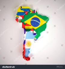 South America Map And Capitals by World Single States Political Map With National Borders Each