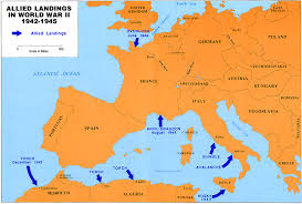 Map Of Europe And Africa by Dwight David Eisenhower